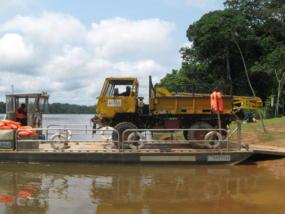 Crossing rivers in Gabon