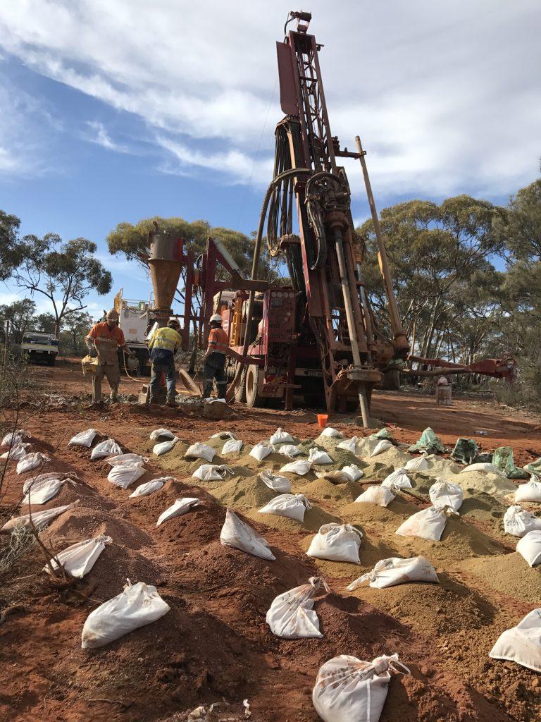 Drilling in the Goldfields region, WA