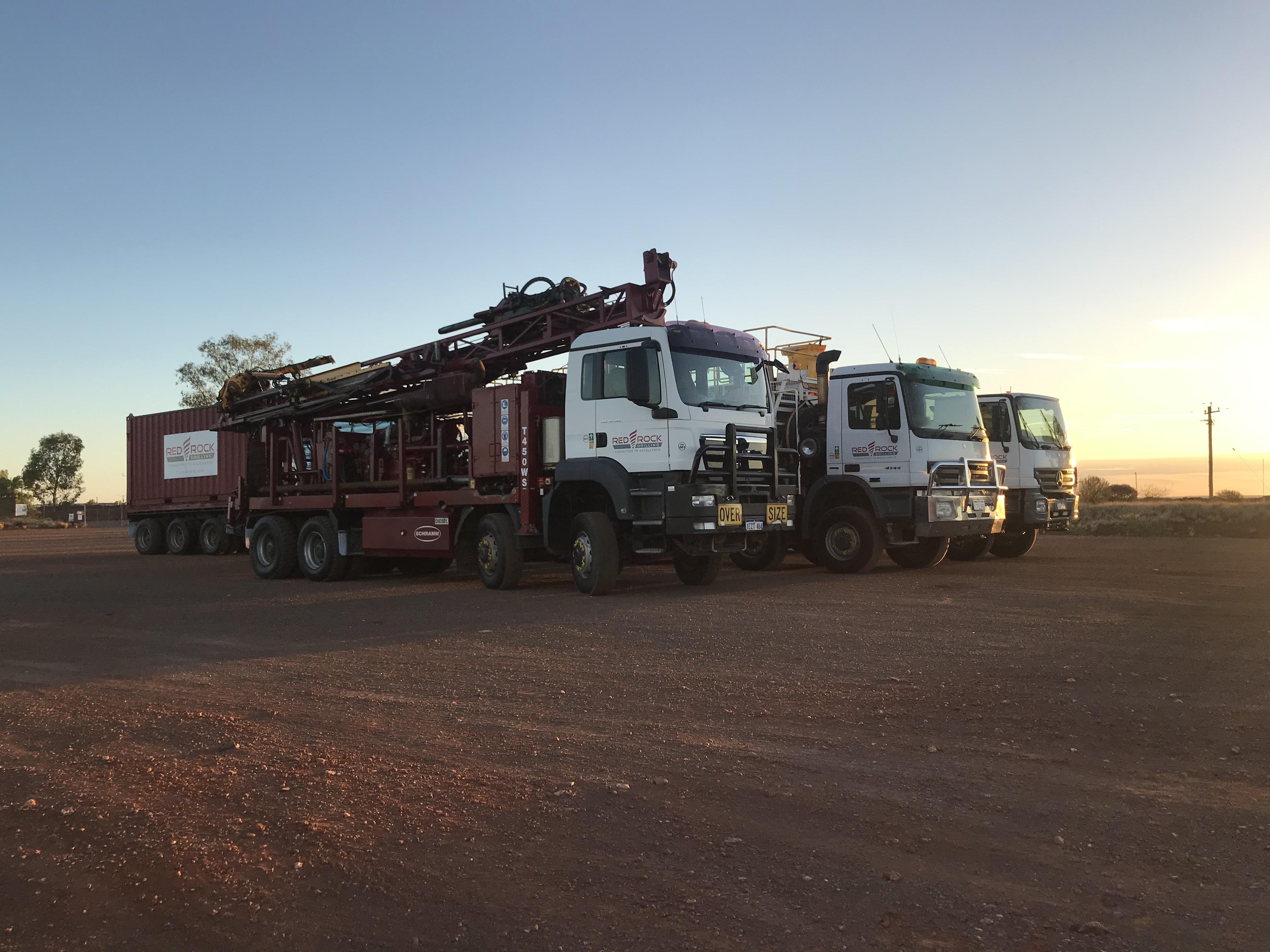 On the move, mobilizing from Kalgoorlie to Barwidgee Station east of Wiluna in WA
