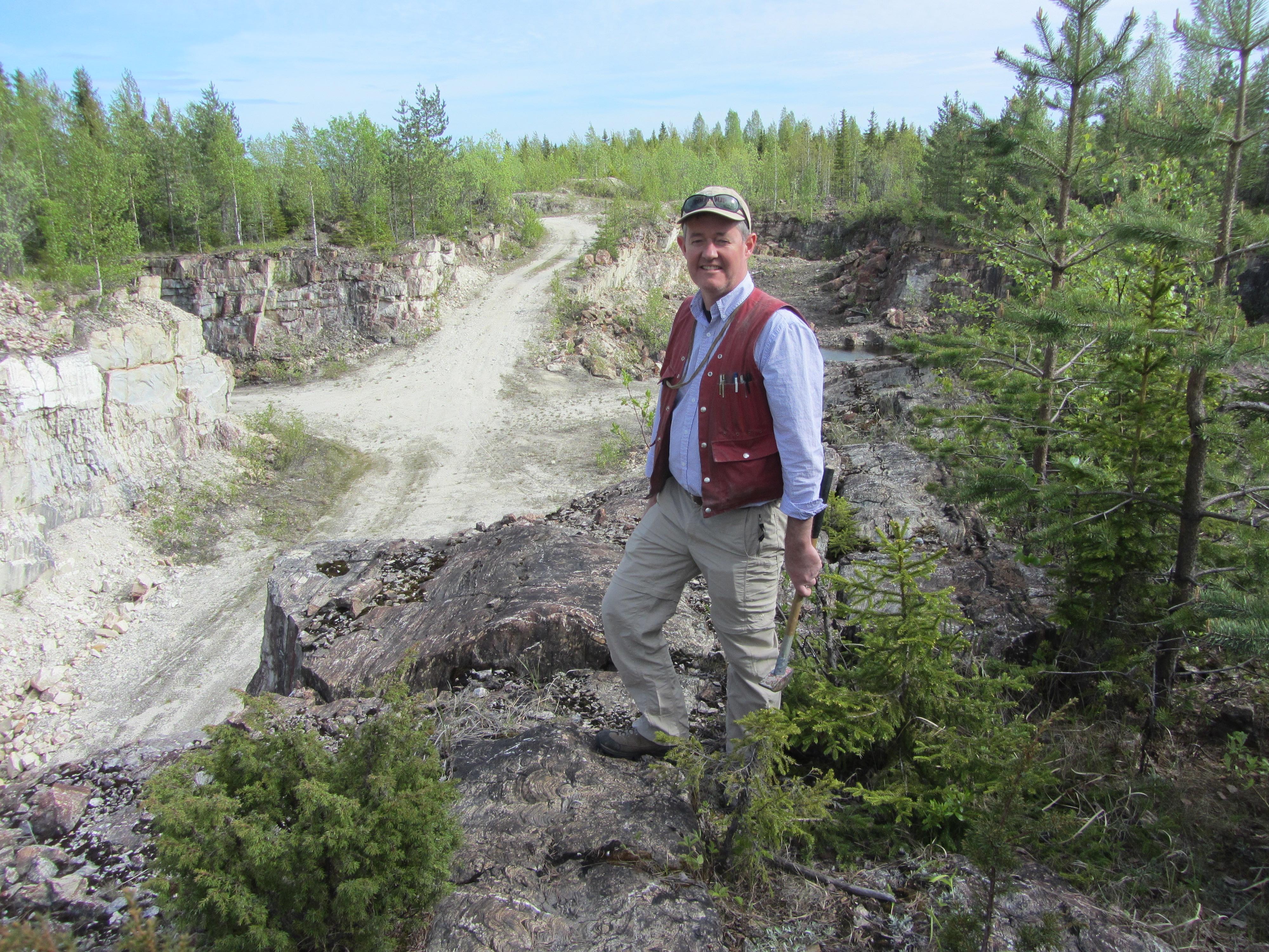 Alan Wilson in the field