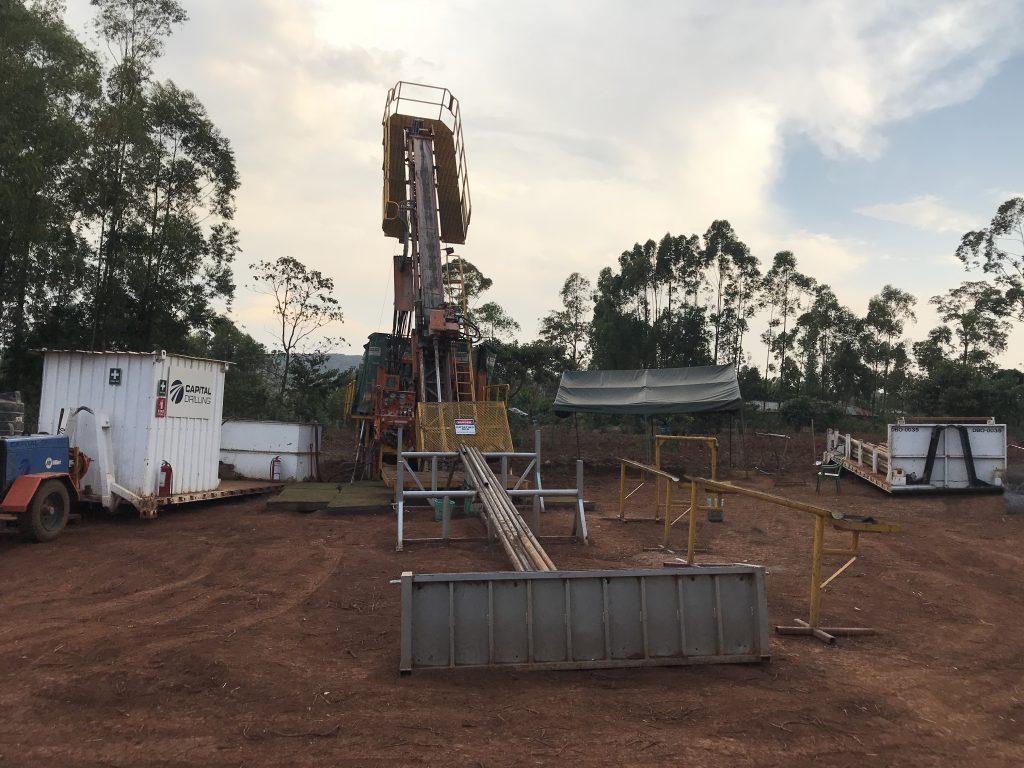 Diamond drill rig in Tanzania