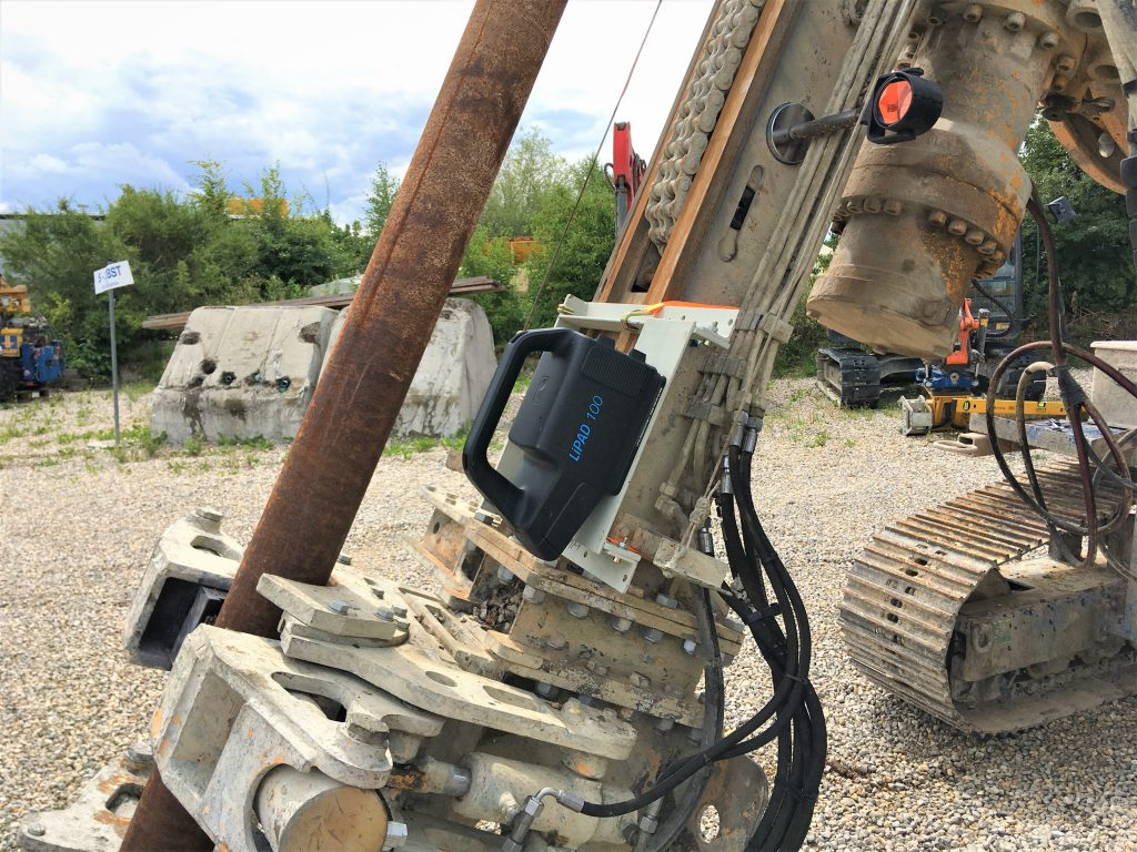 Drill rig setup by Claus Kühne from LITEF