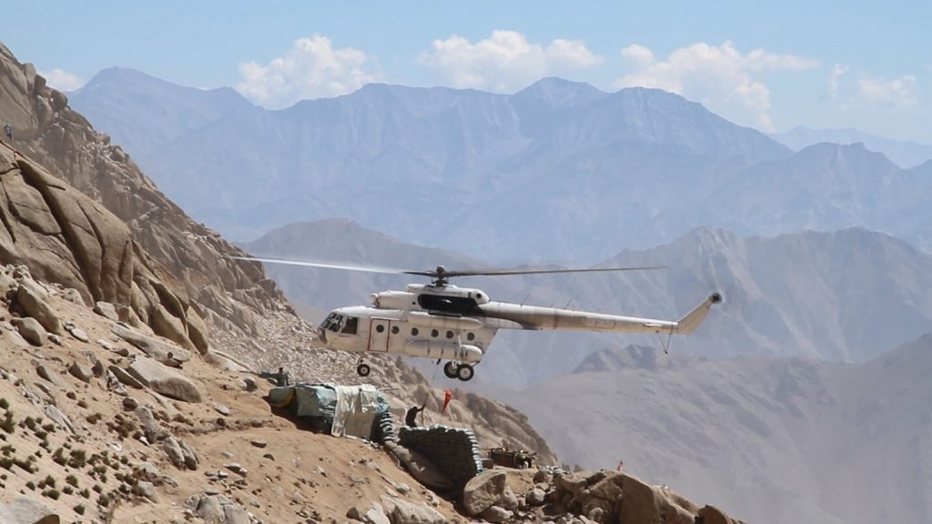 Drilling on top of Afghanistan's roof