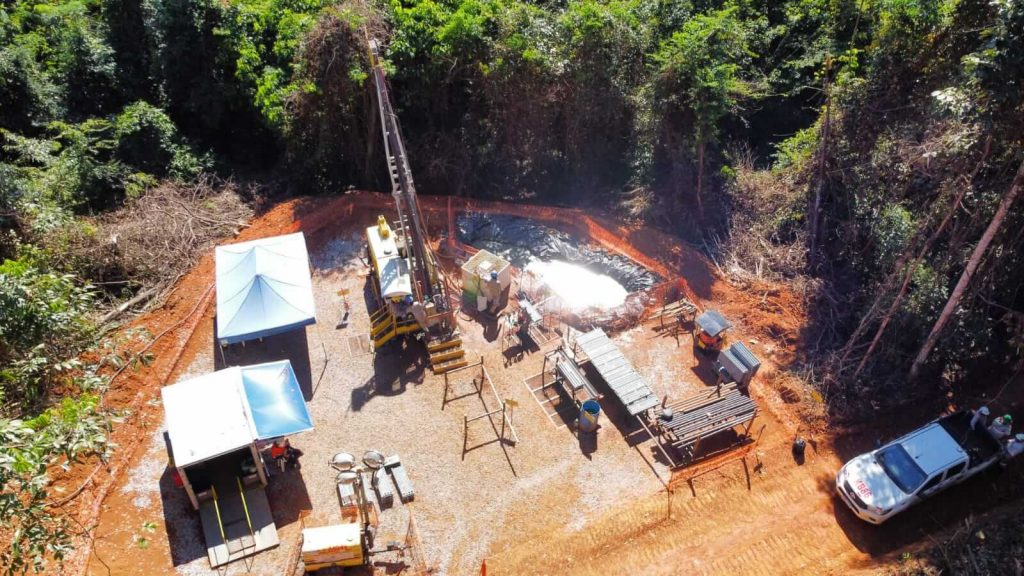 Aerial view of the drill site