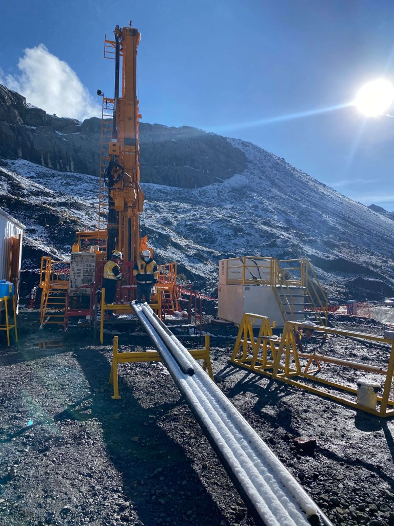 Sunshine and snow at Recon's drill site